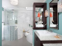 teal blue bathroom decor toilet in light brown tile wall floor