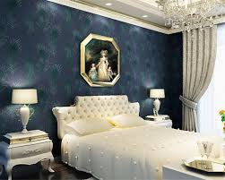 papier peint moderne chambre beibehang paon bleu profond plume 3d papier peint moderne chambre