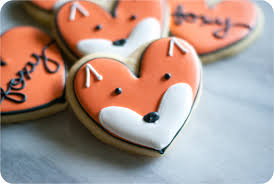 heart shaped cookies cold fox cookies bake at 350