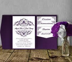 blank wedding invitation kits purple wedding invitation kits amulette jewelry
