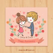 anniversary card sketchy in happy anniversary card vector free