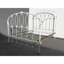 antique french country full iron bed frame farmhouse chic