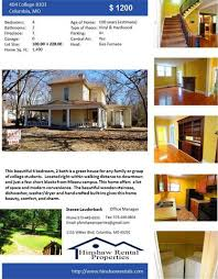 4 Bedroom 2 Bath Houses For Rent by Benton Stephens Columbia Mo Apartments For Rent Realtor Com