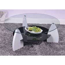 Table Basse Verre Trempé Noir Cuisine Naturelle Table Basse Ronde 100 Cm Coloris Blanc Noir Achat Vente Table