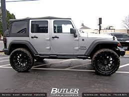 jeep wheels black jeep wrangler with 20in black rhino sidewinder wheels a photo on