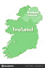 map of ireland island is divided the state border between the