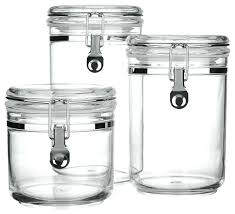 clear glass kitchen canister sets storage canisters kitchen stunning glass canister set for kitchen