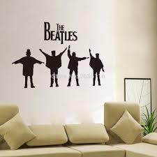 popular beatles wallpaper buy cheap beatles wallpaper lots from the beatles wall art mural famous band singer rock music wallpaper vinyl wall decal for living