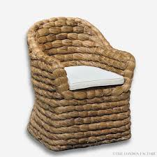 Banana Armchair Seagrass Wicker Banana Leaf Occasional Arm Chair U2013 The London Factory