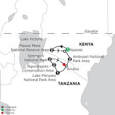 Kenya Map Africa by Africa Safari Packages Monograms Safari Trips