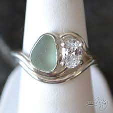 glass wedding rings the adriatic 7 sea glass engagement ring ring ideas
