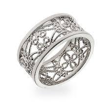 vintage sterling rings images Silver vintage style filigree band eve 39 s addiction jpg