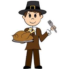 turkey clipart image a pilgrim holding food for a