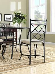 black wrought iron chairs with gray upholdstery combined rounded