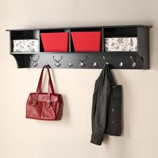 prepac 60 in wall mounted coat rack in black bec 6016 the home