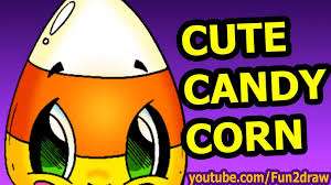 halloween cute candy corn draw halloween cartoon pictures