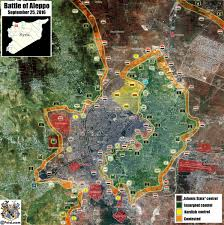 Syria Fighting Map by Latest Battle Map Of Aleppo City