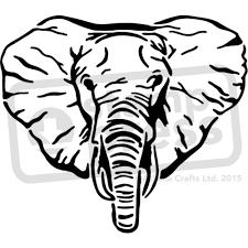 a3 u0027elephant face u0027 wall stencil template ws00023390