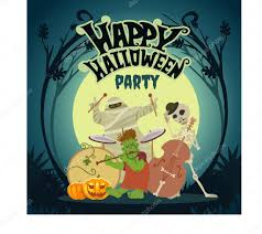 music band playing at halloween party u2014 stock vector funnyclay