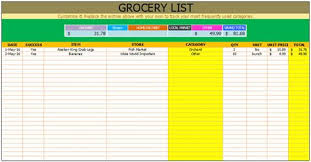 free grocery list template checklist template pinterest