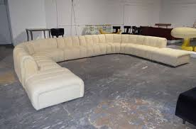 large sectional sofa with ottoman wonderful large sectional sofa in the manner of desede at 1stdibs