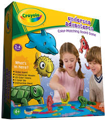 amazon com crayola undersea adventures color matching board game