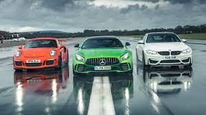 nissan gtr vs porsche 911 chris harris drives merc amg gt r vs 911 gt3 rs vs bmw m4 gts