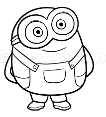 how to draw bob from minions step by step characters pop