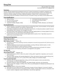 Resume Samples Insurance Jobs by Medical Billing Resume Haadyaooverbayresort Com