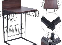 wire and wood basket side table side table industrial wire and wood basket side table side table