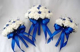 blue wedding bouquets royal blue wedding flowers