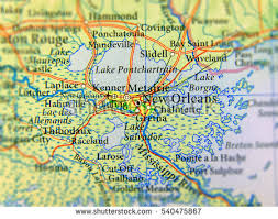 louisiana geographical map geographic map us state louisiana new stock photo 540475867