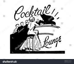 retro martini clip art cocktail lounge retro ad art banner stock vector 70998886