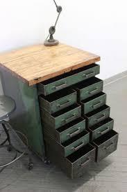 Vintage Industrial File Cabinet Antique Vintage Industrial Metal 24 Drawer Tools Cabinet Chest