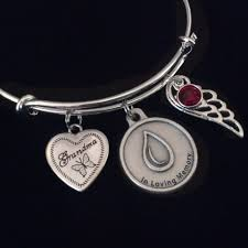 in loving memory charms in loving memory silver expandable charm bracelet adjustable wire