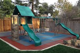 Backyard Gymnastics Equipment 8 Outdoor Flooring Options For Style U0026 Comfort Flooringinc Blog