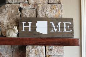 arizona home reclaimed wood sign arizona wall art wooden