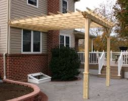 10 X 10 Pergola by Treated Pine Vintage Classic Wall Mount Pergolas Pergolas By