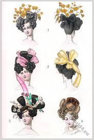 empire hairstyles modes parisiennes 1823 empire hairstyles la réunion journal