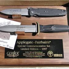 gerber boker knives applegate fairbairn 1997 commemorative set