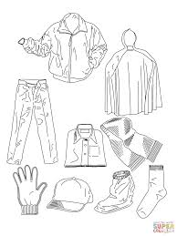 leather boot summer clothes coloring pages preschool