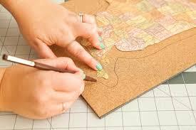 World Map Cork Board by How To Make A Diy Corkboard Map With Fiskars