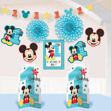 mickey mouse to be one 10 pc room decorating kit 1st birthday