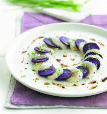 cuisiner les noix de st jacques surgel馥s carpaccio de noix de jacques et pomme de terre vitelotte