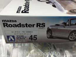 best mazda model aoshima 02254 1 24 the best car gt 45 mazda roadster rs wah wah