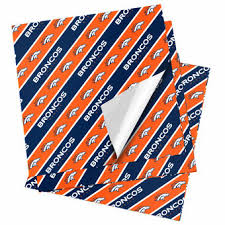where to find wrapping paper denver broncos gift wrap broncos wrapping paper gift bags