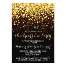 new year s cards gold black glam new year s party card zazzle