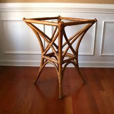 faux bamboo table legs faux bamboo table base rattan cane bentwood bohemian home decor