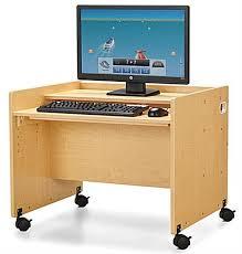 Computer Desk With Wheels Kids Computer Workstation Locking Casters