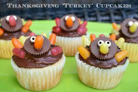 make your own thanksgiving turkey cupcakes